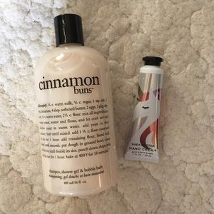 Philosophy Cinnamon Buns & shea butter lotion